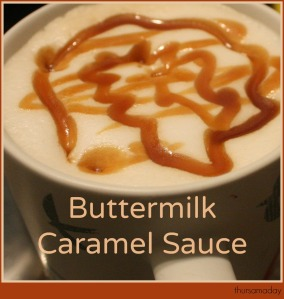 Buttermilk Caramel Sauce Latte